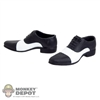 Shoes: Very Cool Black Tip Saddle Dress Shoes (VCM-3005C)