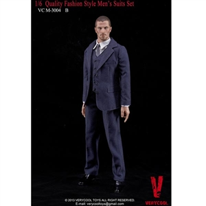 Clothing Set: Very Cool Fashion Suit Set Blue w/Stripes (VCM-3004B)