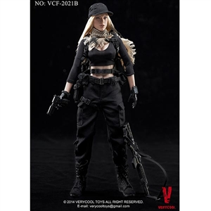 Boxed Figure: Very Cool Very Cool Female Shooter CP Black (VCF-2021B)