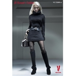 Clothing Set: Very Cool Turtleneck Mini Dress Set Black (VCF-2009)
