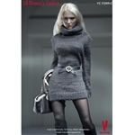 Clothing Set: Very Cool Turtleneck Mini Dress Set Grey (VCF-2009C)