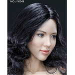 Boxed Figure: Very Cool Curly Black Straight Hair Headsculpt (VCF-X04B)