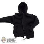 Jacket: Very Cool Black Hooded Sweatshirt