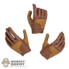 Hands: Very Cool Brown Gloved Hand Set