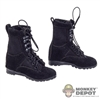 Boots: Very Cool Female Black Tactical Boots (Ankle Pegs Not Included)