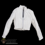 Coat: Very Cool Female White Leather Jacket