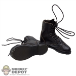 Boots: Very Cool Black Leather Russian Boots