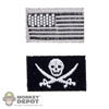 Insignia: Very Hot US Flag & Pirate Patch