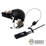 Helmet: Very Hot FAST Ballistic Helmet w/NVG & Radio *READ NOTES