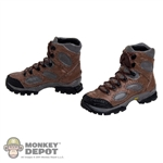 Boots: Very Hot Brown/Grey Combat (No ankle pegs)