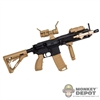 Rifle: Very Hot Tan/Black HK 416 Loaded