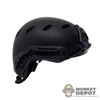 Helmet: Very Hot Black Half-Cut Protec Helmet w/NVG Mount