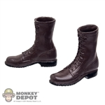 Boots: Very Hot Brown Molded Boots (No Ankle Pegs)
