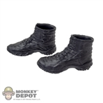 Boots: Very Hot Black Combat (No Ankle Pegs)