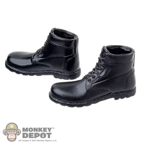 Boots: Wolf King Black Officer Boots