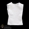 Shirt: Wild Toys White Sleeveless Shirt