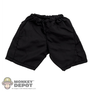 Shorts: Wild Toys Black Nylon Shorts