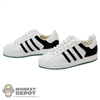Shoes: Wild Toys White & Black Sneakers