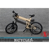 Bicycle: X Toys 1/6 Folding Bike - Sand (XT-009C)