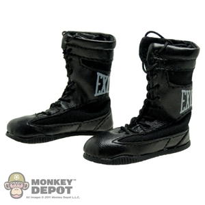 Boots: ZC World Black Hi Top Boxing Boots