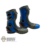 Boots: ZC World Blue Motorcycle Boots (Female)