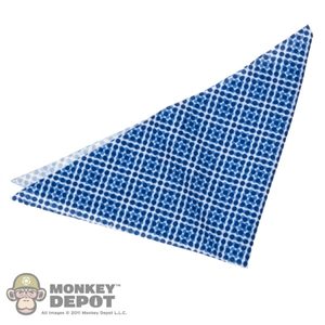 Scarf: ZC World Blue Pattern Bandana