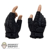 Hands: ZC World Black Fingerless Molded Fist