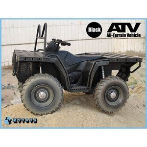 ZY Toys 1/6 ATV All Terrain Vehicle - BLACK (ZY-8033A)