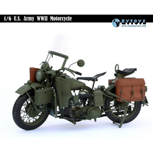 ZY Toys 1/6 US Army WWII Motorcycle (ZY-8038)