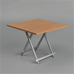 Table: ZY Toys Brown Folding Table (ZY-15-21B)