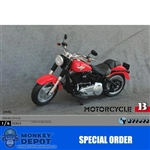 Boxed Vehicle: ZY Toys 1/6 Motorcycle In Red (ZY-15-26B)