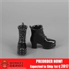 Shoes: ZY Toys Female Black Boots (ZY-16-24A)