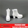 Shoes: ZY Toys Female White Boots (ZY-16-24B)
