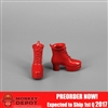 Shoes: ZY Toys Female Red Boots (ZY-16-24C)
