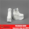Shoes: ZY Toys Female White Platform Boots (ZY-16-25B)