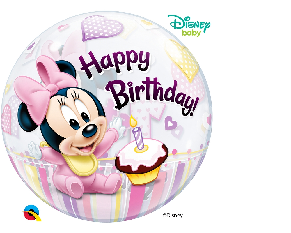 Minnie Mouse 1st Birthday Bubble