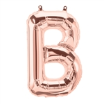 "16"" LETTER B - ROSE GOLD FOIL AIR FILL"