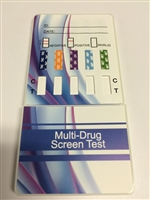 10 panel drug test dip card