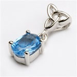 sterling silver DECEMBER Birthstone CELTIC FAMILY Pendant