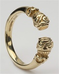 Gold Unisex Torc Celtic Rings