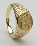 Gold Unisex Lion Celtic Rings