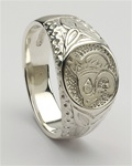 Silver Unisex Lion Celtic Rings