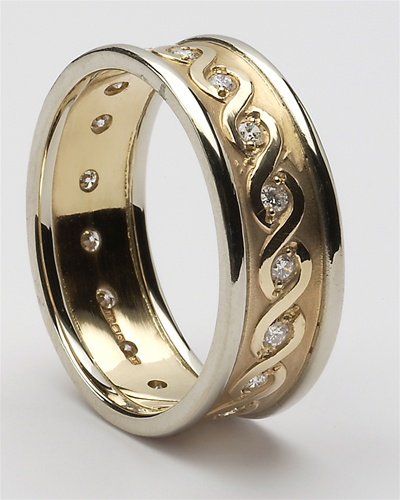 Mens Celtic Continuity Diamond Wedding Rings MG WED76