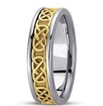 Ladies Celtic Wedding Rings ULG-HM221
