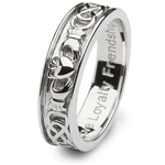 Mens Sterling Silver Claddagh Wedding Ring SM-SD9