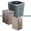 3.5 ton DiamondAir 13 seer 80% to 96% AFUE up to 100,000 BTU system D1342AC / Furnace / Cased Coil