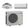 Mini Split Multi 2 Zone Mitsubishi up to 18 SEER heat pump system MXZ2C20NA x 2 Wall Mount or Ceiling Cassette