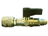 "Refrigerant Adapter 5/16"" Female to 1/4"" Male with Shut-off Valve"