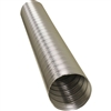 "4"" Metaflex V350 Aluminum Flexible Air Duct 8' Length 400F Hi-Temp"