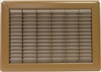 "Mobile Home or Floor Return Air Grill Only 14"" X 20""  Brown"